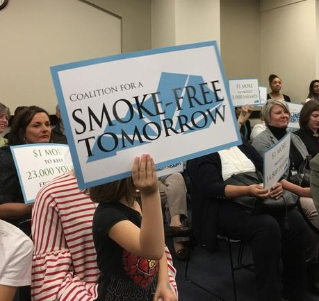 Supporters of increasing the cigarette tax launched a campaign in 2017.
